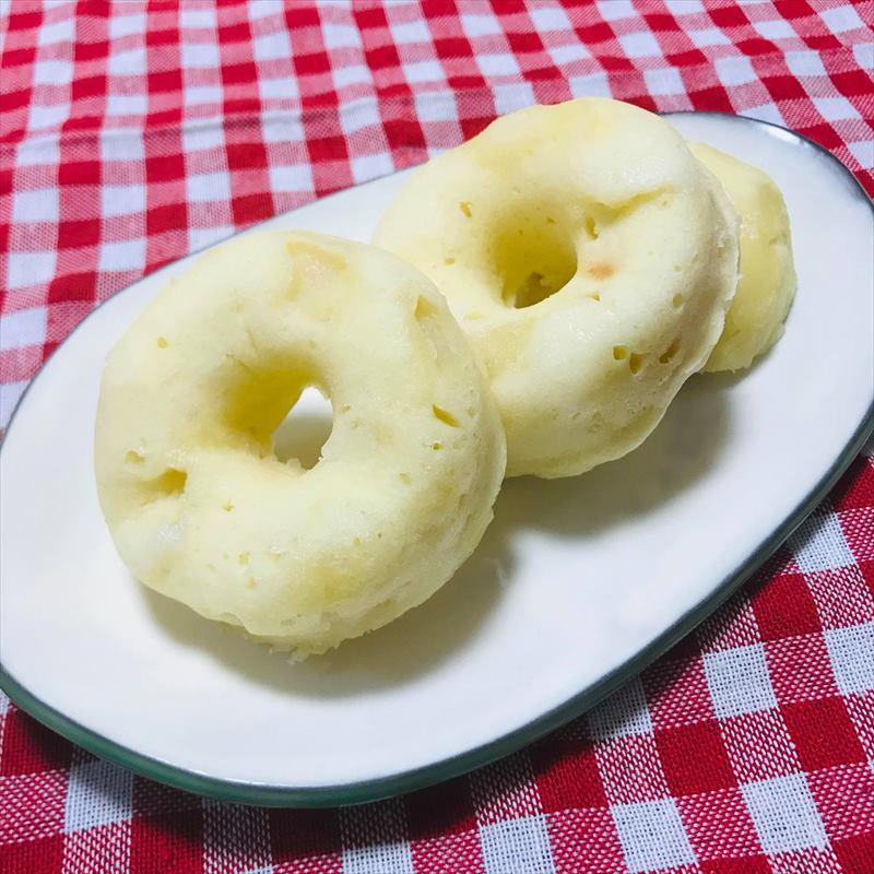 【離乳食完了期】梨の蒸しドーナッツ