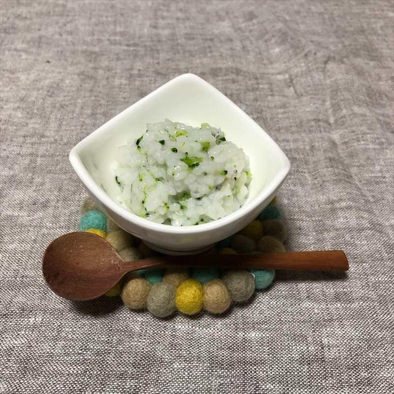 【離乳食中期】ブロッコリーとしらすのご飯