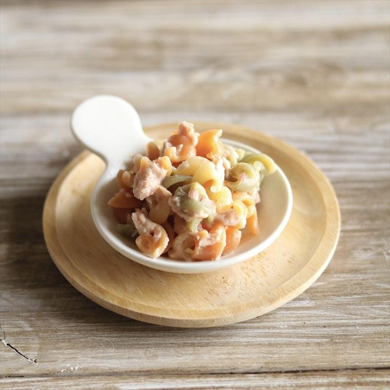 【離乳食後期】マカロニとツナのサラダ