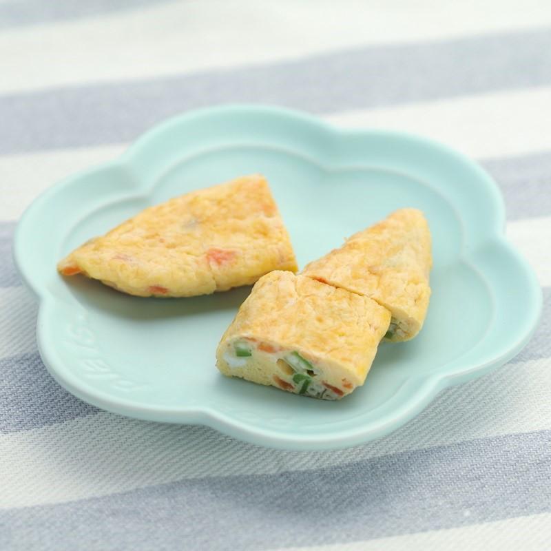 【離乳食完了期】トマトのチーズオーブンオムレツ