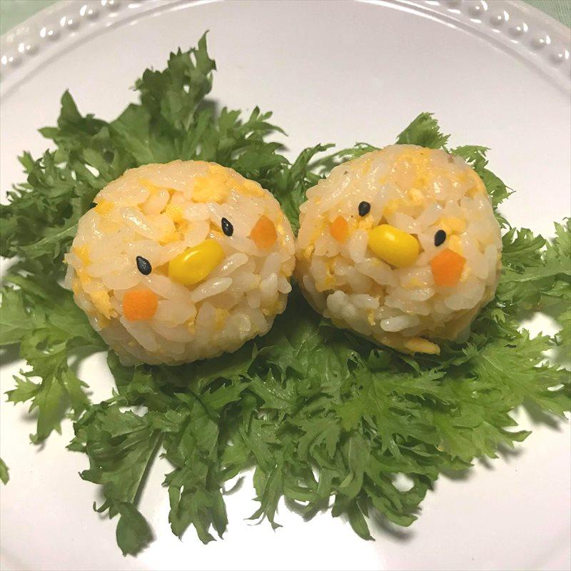 【離乳食完了期】炒り卵おにぎり