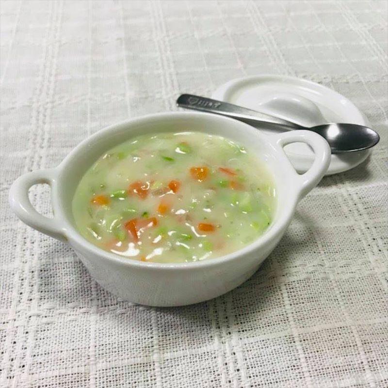 【離乳食中期】枝豆ミルクチャウダー