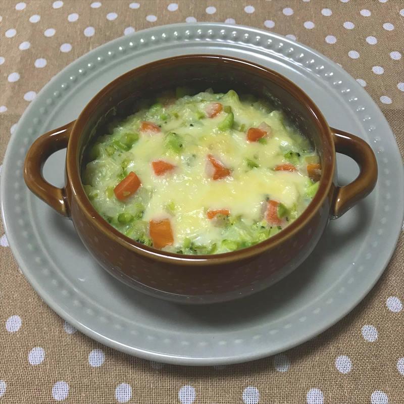 【離乳食後期】枝豆とブロッコリーのミルクドリア