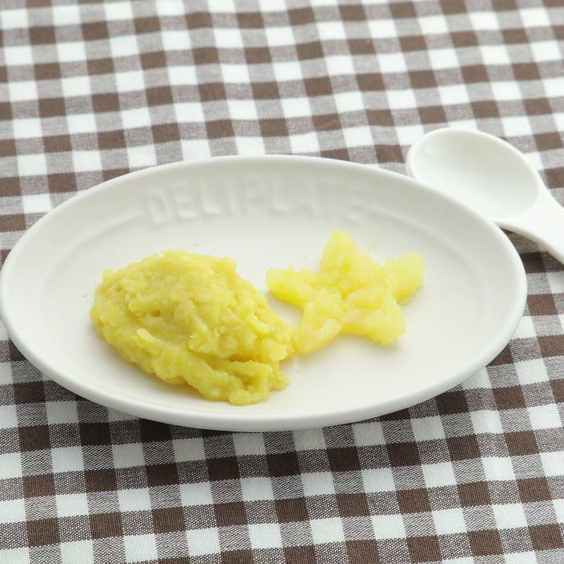 【離乳食中期】さつまいもとりんごのマッシュサラダ