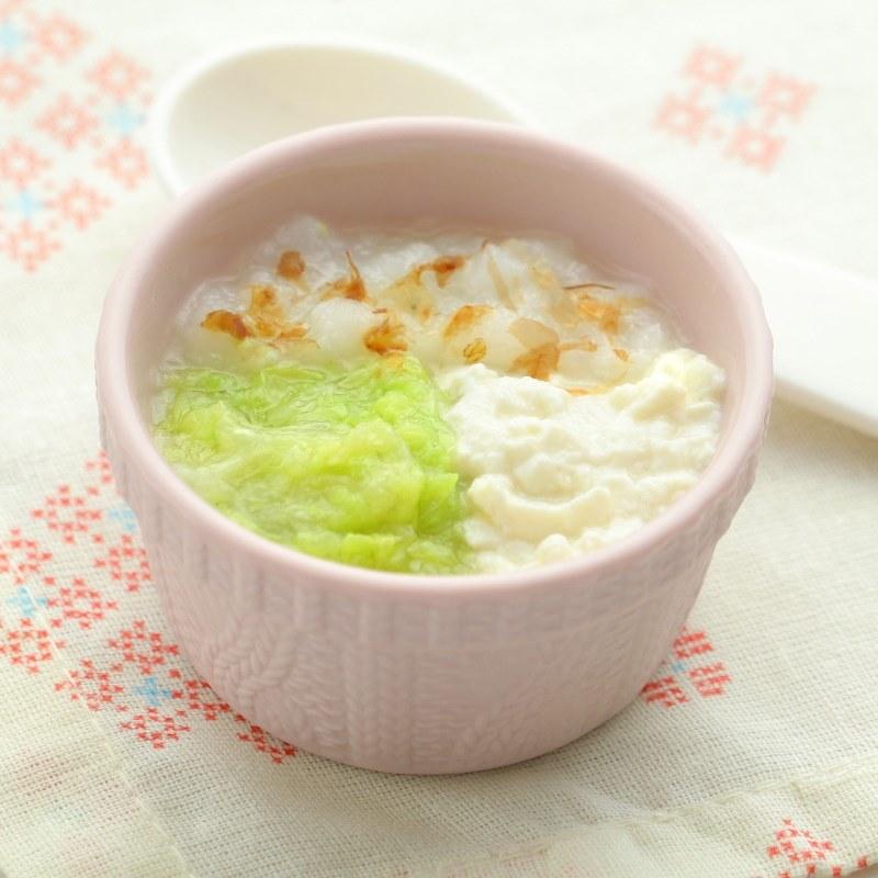【離乳食中期】白菜と豆腐のおかか粥