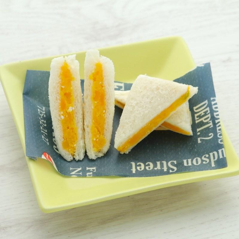 【離乳食完了期】かぼちゃチーズサンドイッチ