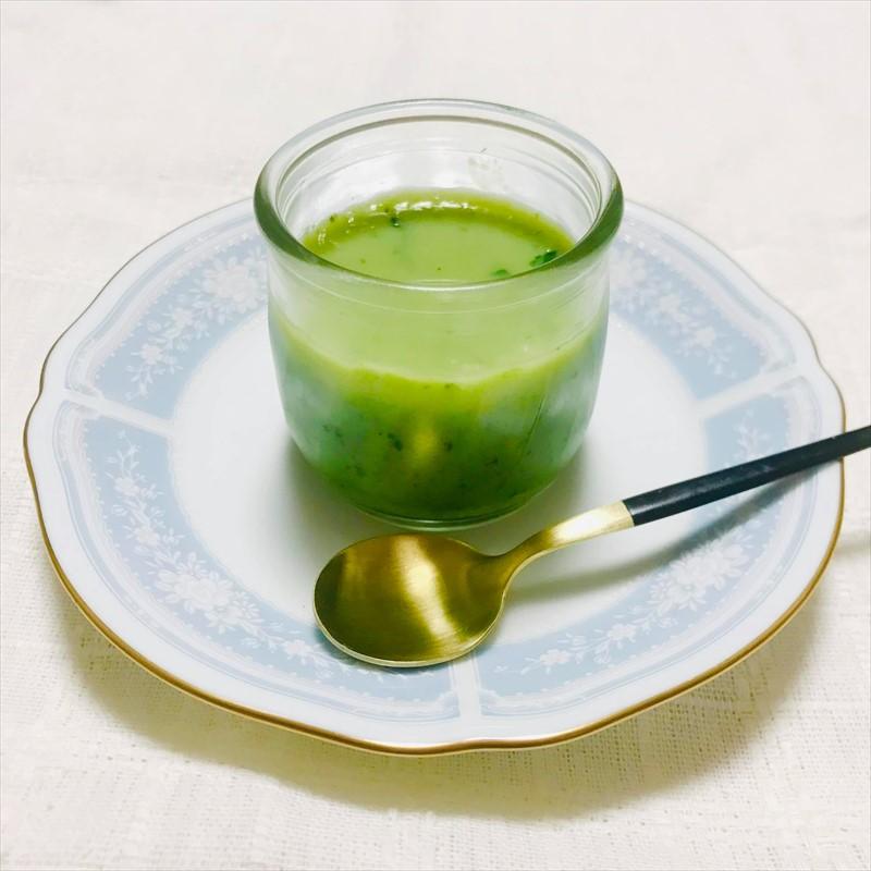 【離乳食後期】小松菜とバナナのミルクプリン