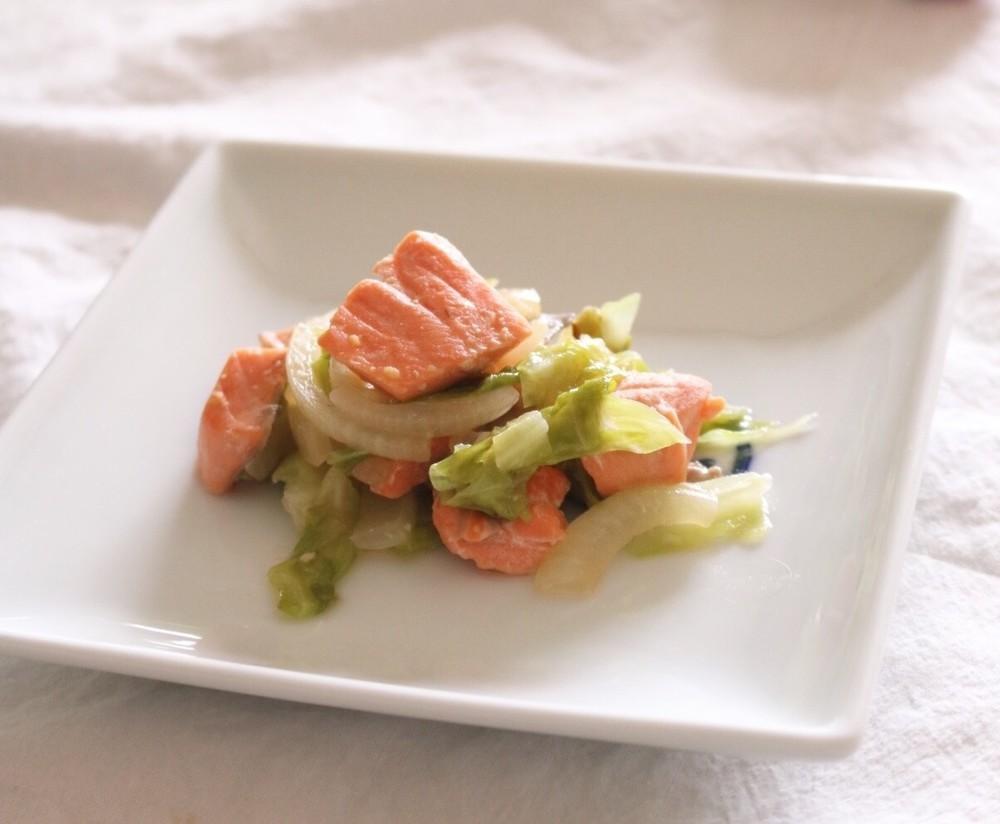【離乳食完了期】鮭のちゃんちゃん焼き風