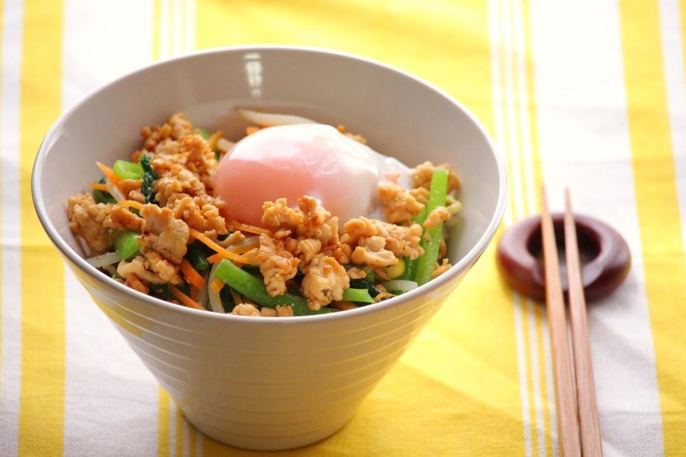 小松菜たっぷりビビンバ
