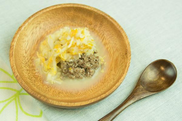 【離乳食】レバーバーグ卵野菜ソース