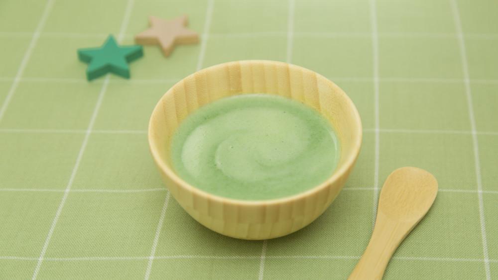 【離乳食初期】ほうれん草と豆腐のスープ