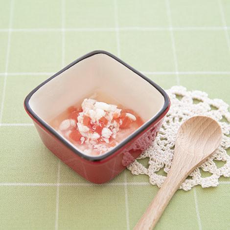 【離乳食中期】白身魚のトマト煮