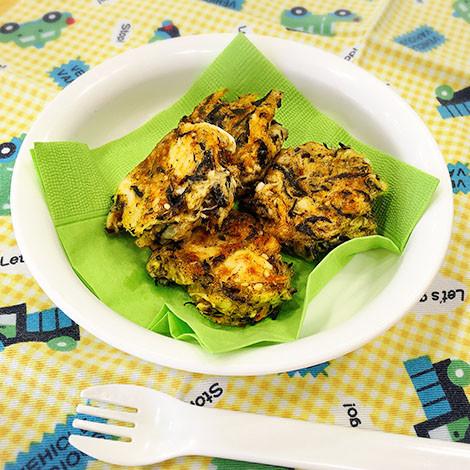 【離乳食後期】ひじきと里芋のおやき