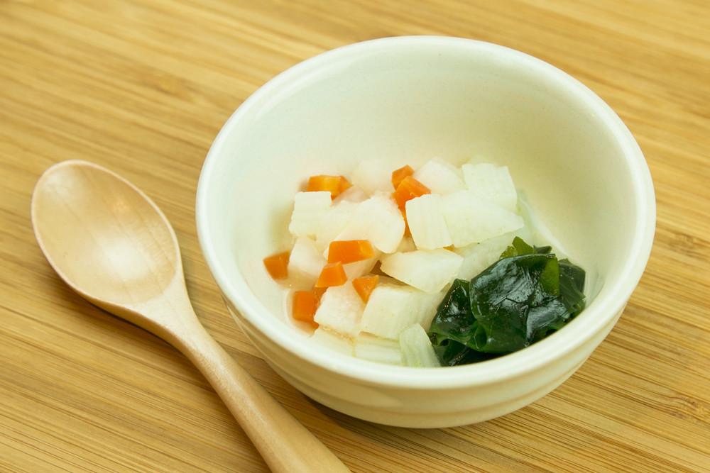 【離乳食後期】長芋とわかめの含め煮