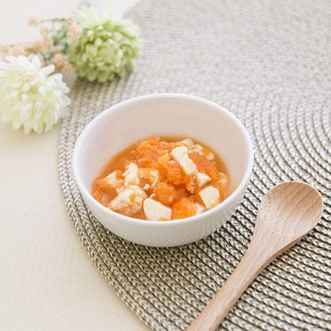 【離乳食中期】豆腐&にんじん和え