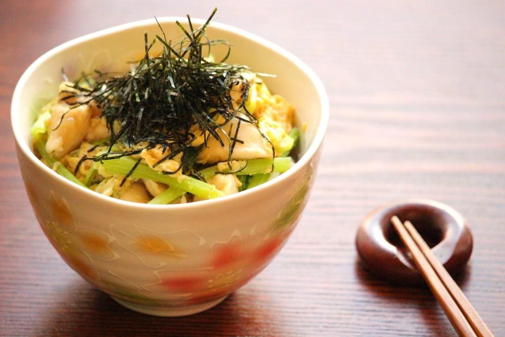 小松菜入りささみ親子丼