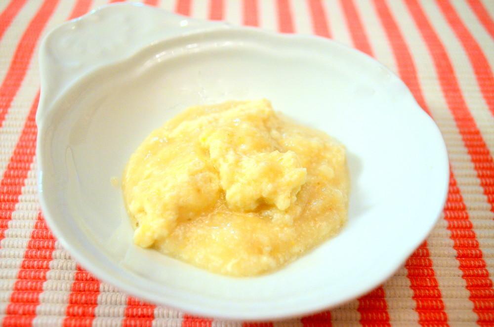 【離乳食初期】豆腐とさつまいもミルクあえ