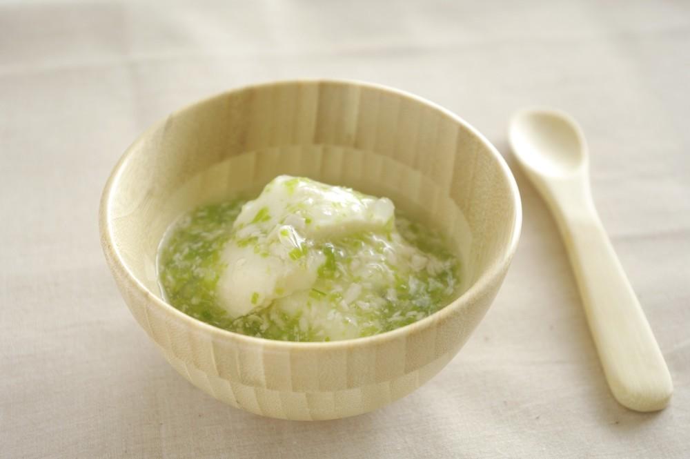 【離乳食中期】豆腐の青菜あんかけ