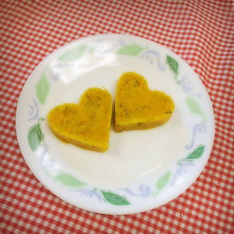 【離乳食後期】かぼちゃのラブリーサラダ