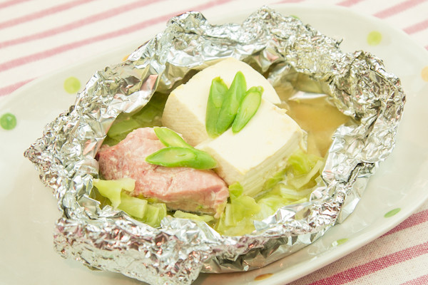 【離乳食】鮭と豆腐の味噌蒸し