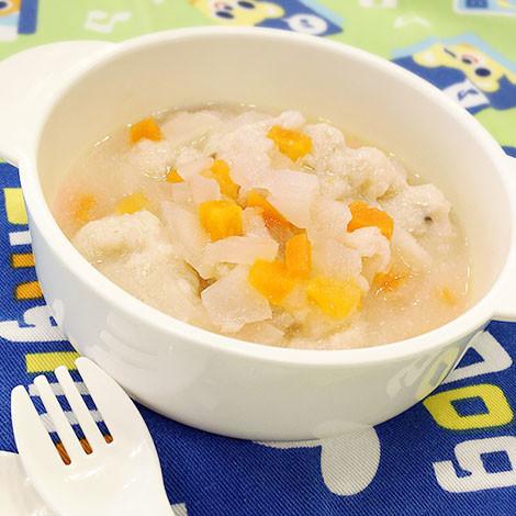 【離乳食中期】白身魚のふわふわ団子スープ