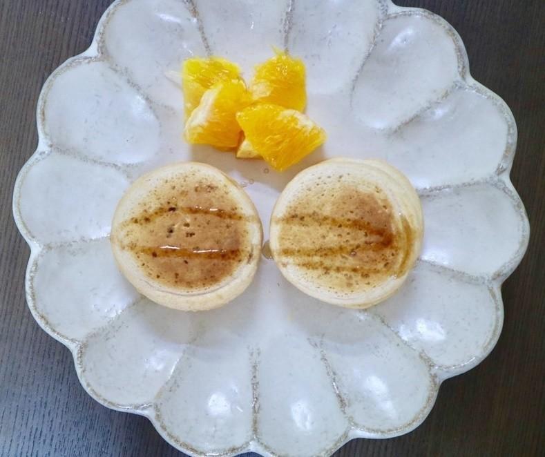 【離乳食完了期】豆乳ときな粉のパンケーキ