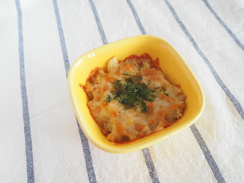 [離乳食後期]里芋と納豆のチーズ焼き