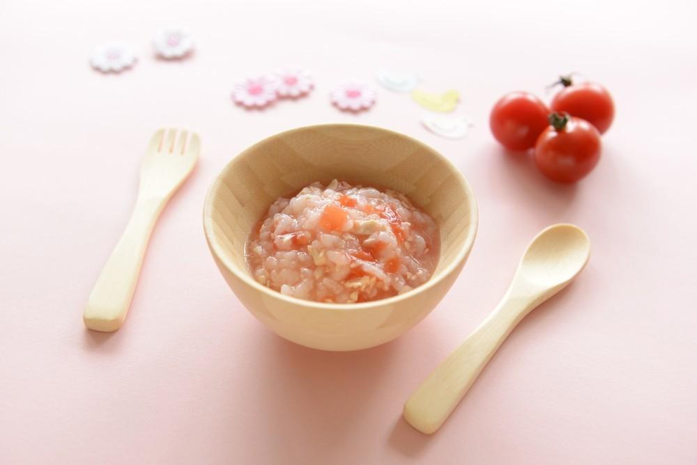 【離乳食中期】とりささみのトマト粥