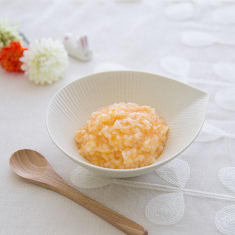 【離乳食初期】にんじんのお粥